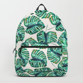Watercolor tropical leaf IX Backpack