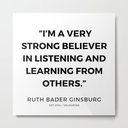 42     191115   Ruth Bader Ginsburg Quotes Metal Print