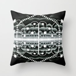 Neuromorphic Chip - Futuristic Technology Throw Pillow
