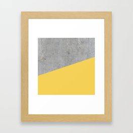 Concrete and Primrose Yellow Color Framed Art Print