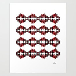 sonic red pattern no. 1 - red lips Art Print