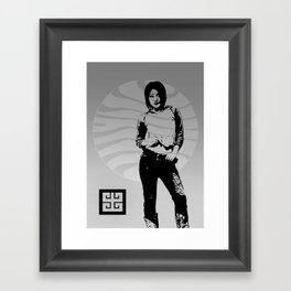 jean ad 4 Framed Art Print