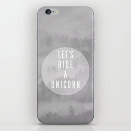 Ride A Unicorn iPhone Skin