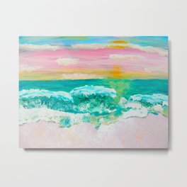 Pink Sand Sunset Metal Print