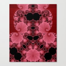Fractal - Pink Shells Canvas Print