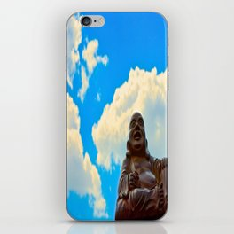 Happy Buddha on a Beautiful Day iPhone Skin