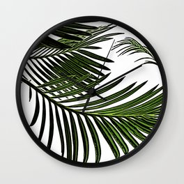 Large Tropical Palm Leaves Wall Clock