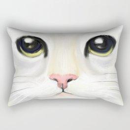 cat closeup Rectangular Pillow