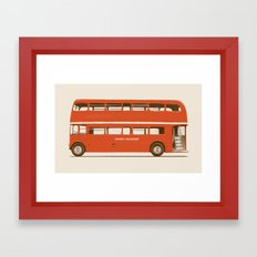 Red London Bus Framed Art Print
