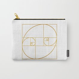 Golden Oval Carry-All Pouch
