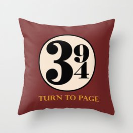 Turn to Page 394 Throw Pillow