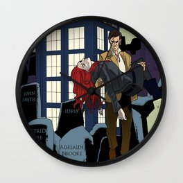 Doctor Who at the cemetery Wall Clock