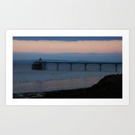 Clevedon Pier Sunset Art Print