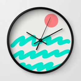 Abstract Landscape 08 Wall Clock