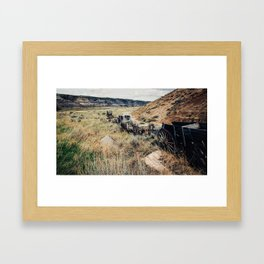 abandoned mine carts Framed Art Print
