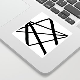Star Diamond Line Abstract Sticker