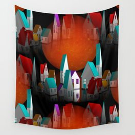 a seamless geometric horizon -2- Wall Tapestry
