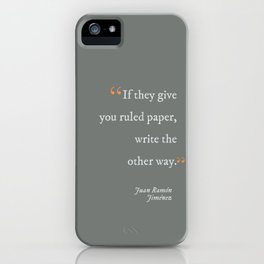 Write the Other Way iPhone Case