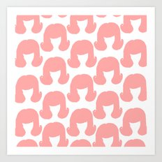 Pink Bouffants Art Print