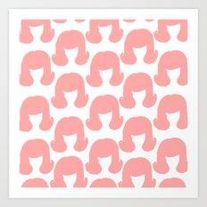 Pink Bouffants Art Print