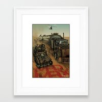 mad max Framed Art Prints featuring Mad Max  by ZIMZONOWICZ