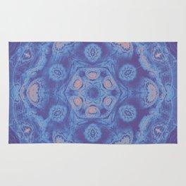 Ultra-violet kaleidoscope mandala with fractal texture Rug