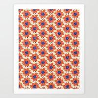 Blueberry Flowers Art Print