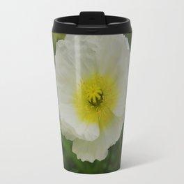 White Poppy Travel Mug