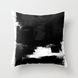 Black white theme #15a Throw Pillow
