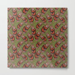 sloth pattern Metal Print