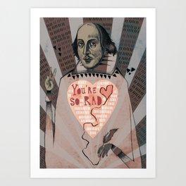 Rad Man Shakespeare Art Print