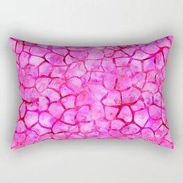 Pink Giraffe Print Rectangular Pillow