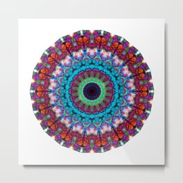 New Dawn Mandala Art - Sharon Cummings Metal Print