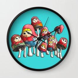 Matroyshrooms Wall Clock
