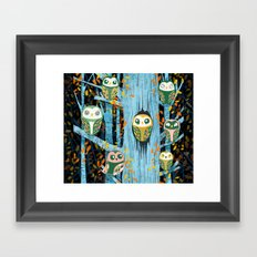 Overnight Owl Conference Framed Art Print