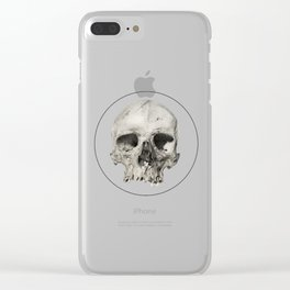 London Skull Clear iPhone Case