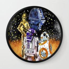 pop culture robots  Wall Clock