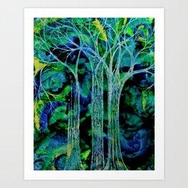 Trees in Threes. Art Print