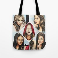 """pretty little liars Tote Bags featuring Pretty Little Liars - """"Red Coat"""" 
