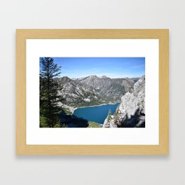 Hears to you Mother Earth - Colchuck Lake, Washington State Framed Art Print
