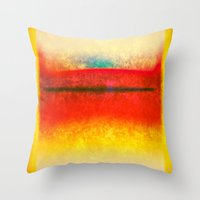 rothko Throw Pillows featuring After Rothko 8 by Gary Grayson
