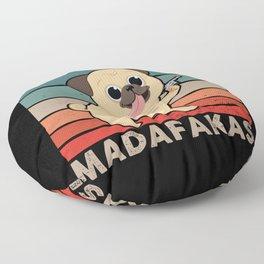 Pew Pew Madafakas Dog Pug Gun Floor Pillow
