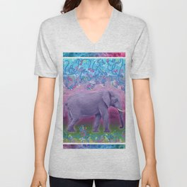 Extraordinary Little (Big) Elephant Unisex V-Neck
