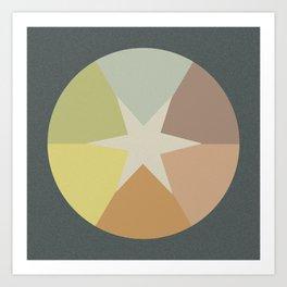 Off-Aligned Babbitt Star Art Print