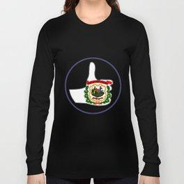 Thumbs Up West Virginia Long Sleeve T-shirt