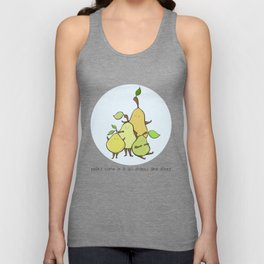 Pears come in all shapes and sizes Unisex Tank Top