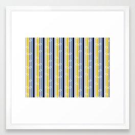 flower stripe Framed Art Print