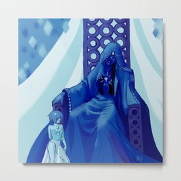 Blue Diamond Concept Metal Print