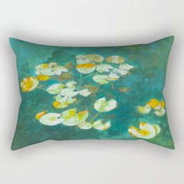 Serene Lotus Pond Rectangular Pillow