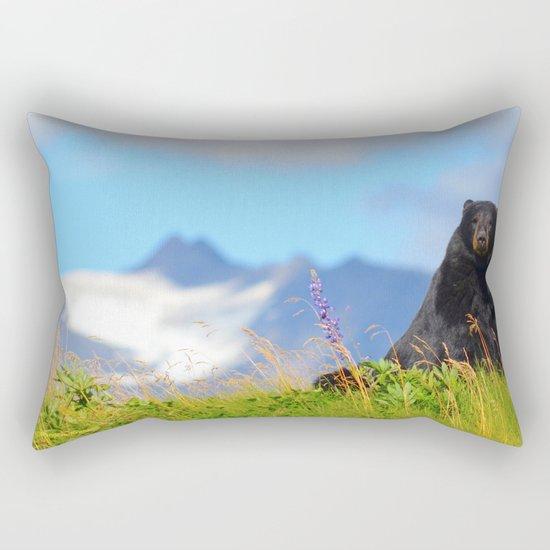 Alaskan Black Bear Rectangular Pillow